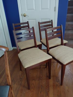 Four mid century chairs for Sale in Kenmore, WA