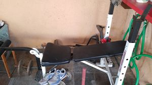 Bench press w/bar and weights for Sale in San Diego, CA