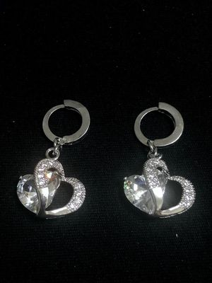 Sterling Silver Heart Hoop earrings for Sale in Las Vegas, NV