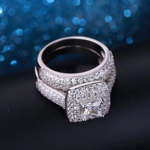 925 Sterling Silver Engagement/Wedding Ring Set - Code D210 for Sale in Dallas, TX