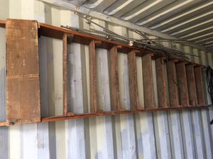 Primitive Vintage wooden ladder. 12 foot. for Sale in Wilson, KS