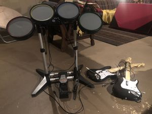 Rock Band Guitar Hero equipment for Xbox for Sale in Joliet, IL
