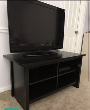 "Black media tv stand perfect for 42"" inch tv or under for Sale in Gurnee, IL"