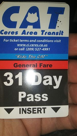 Cat Ceres area Transit bus tickets for Sale in Modesto, CA