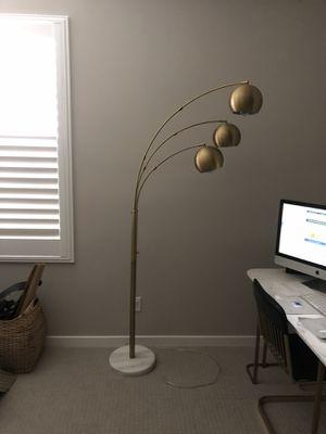 Span 3 Head Metal Globe brass floor lamp for Sale in Irvine, CA