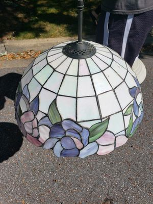 Stained glass handing light and heavy glass light for Sale in Germantown, MD