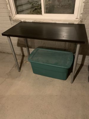 Adjustable black table for Sale in Normal, IL