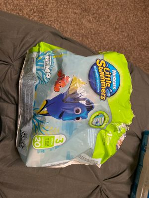 Small huggies swim diapers/ pull ups for Sale in Surprise, AZ