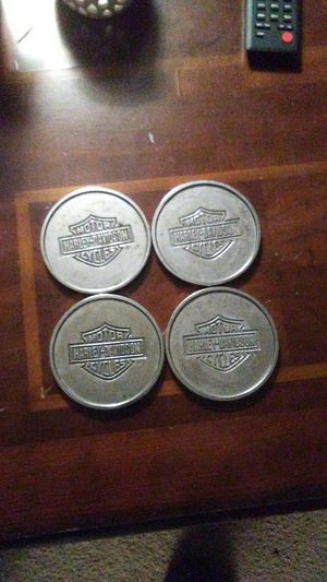 Harley Davidson coasters. Silver. for Sale in Pittsburgh, PA