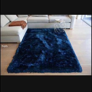 Navy Deep blue soft shimmer area carpet 8x10 large living room decorative bed room rug new for Sale in Fresno, CA