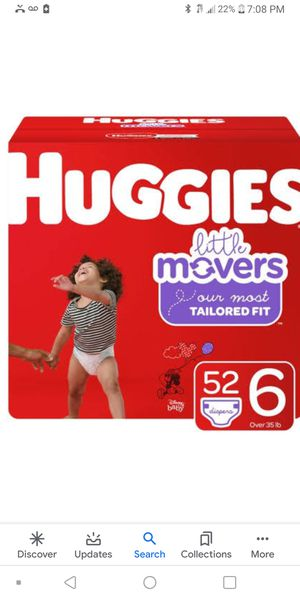 Huggies little movers size 6 for Sale in Moreno Valley, CA