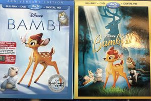 Anniversary edition Bambi and Bambi II movies. for Sale in Vero Beach, FL