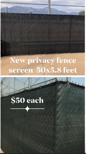 New privacy fence screen 50 feet by 5.8 feet for Sale in Perris, CA