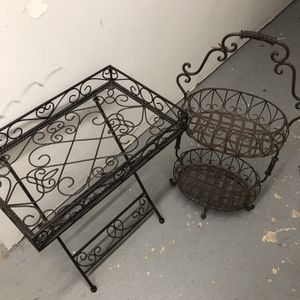 Table , And Basket Holder for Sale in Alexandria, VA