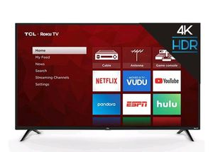 TCL 55 INCH CLASS 4K UHD Roku Smart TV HDR 4 Series 55S421 for Sale in Renton, WA
