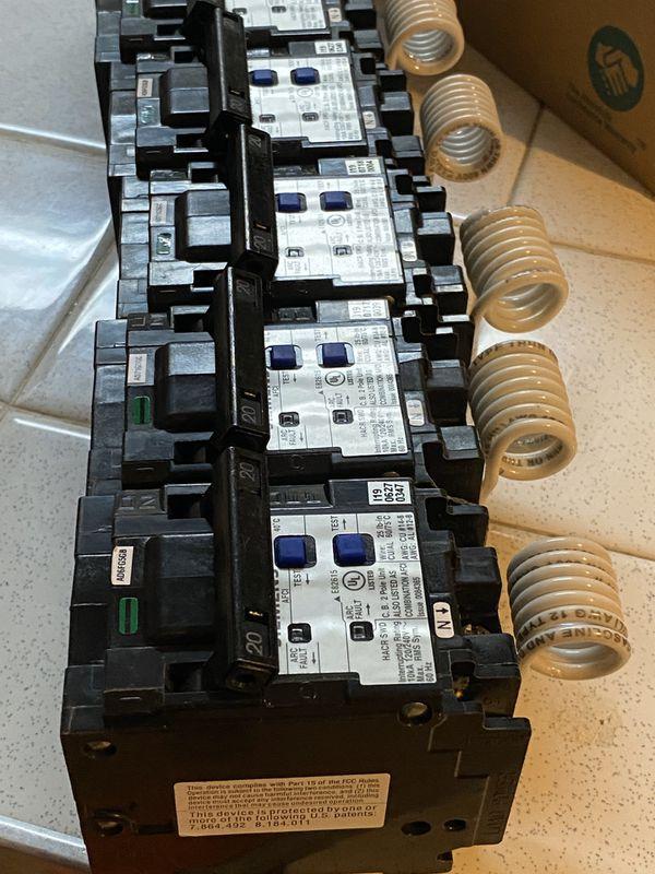 2 POLE ARC. FAULT 20amp circuit breakers