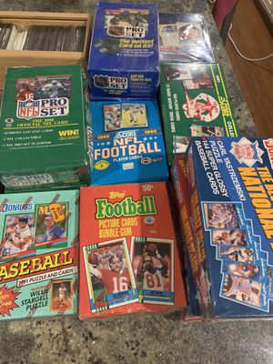 Unopened packs of baseball football basketball hockey for Sale in San Jose, CA