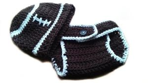 Baby Football Sports Fan Beanie Hat and Diaper Cover-Custom Personalized Unisex Photo Prop Adjustable for Sale in Hartford, CT