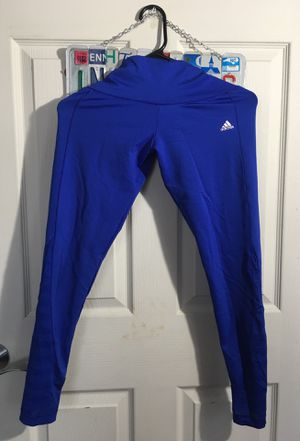 Adidas Climate running workout weight training leggings mesh blue for Sale in Cleveland, OH