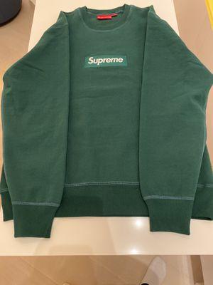 Supreme Box Logo Crewneck Green Size Medium for Sale in New York, NY