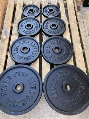 Olympic weight plates matching set, 2 inch hole...$325 OBO for Sale in Glendale, AZ