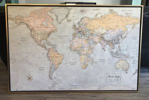 Large Canvas World Map for Sale in Mesa, AZ