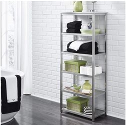 Silver Metal Shelves Storage Shelf for Sale in Phoenix,  AZ