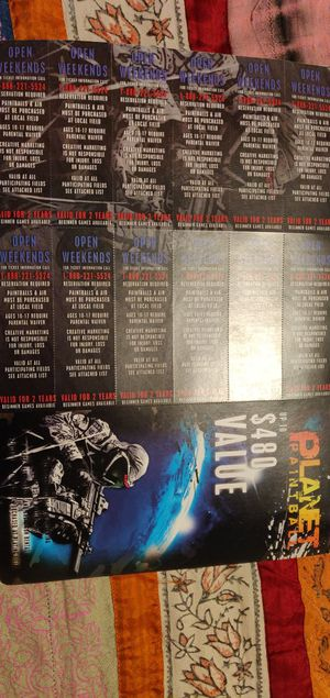 12 Paintball Passes for Sale in Tempe, AZ