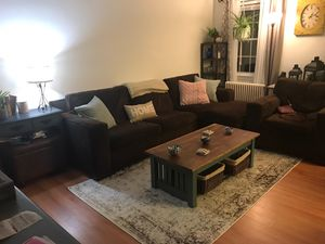 Large sleeper sectional with armchair for Sale in Arlington, VA