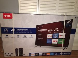 "55"" Class 4K UHD TCL Roku Smart TV (NEW) for Sale in Fort Lauderdale, FL"