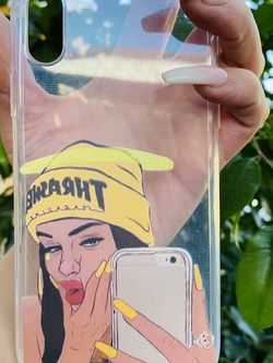 Brand new cool iphone XR case cover silicone rubber Clear Thrasher Girl for Sale in San Bernardino,  CA