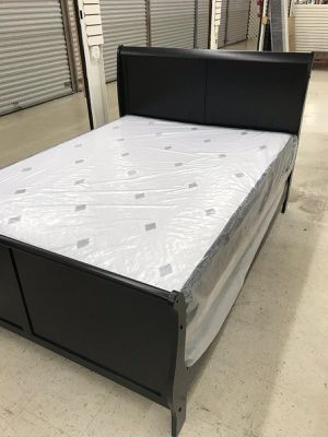 3 PCS BED SET (FULL or QUEEN) REAL WOOD BED, MATTRESS & BOX SPRING BEDROOM SET for Sale in Homestead, FL