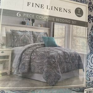 PCT FINE LINENS 6pc TWIN Comforter Set for Sale in Ontario, CA