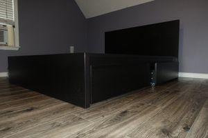 Queen bed frame, black, ikea for Sale in La Vergne, TN