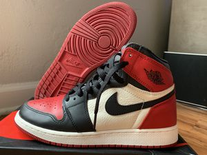 Jordan 1 bred toe size 6 youth/ 7.5 women's. Dead stock for Sale in Los Angeles, CA