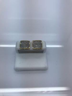 10k yellow gold earrings .50 carat diamonds for Sale in Renton, WA
