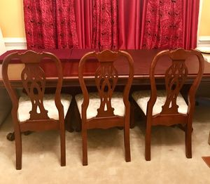 6 seater wood dining table set for Sale in Ashburn, VA