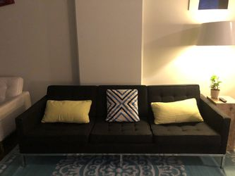 Mid century modern couch (metal frame and woven fabric upholstery) for Sale in St. Louis,  MO