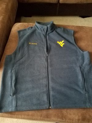 Brand new without tags men's WVU Columbia fleece vest for Sale in Inwood, WV
