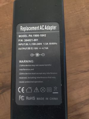 HP Laptop Charger (replacement) for Sale in Mesa, AZ