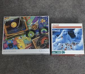 New bundle of 1500 & 1000 piece puzzles coke & music buffalo games brand puzzle for Sale in West Los Angeles, CA