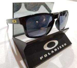 Oakley Holbrook Sunglasses Polished Black / Gray Blue Polarized 9102-11 USA 55-18 for Sale in Norwalk, CA