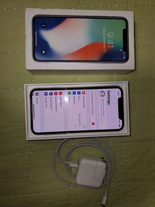 White iPhone X 64gb