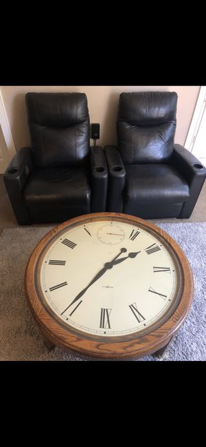 *Delivery* Leather Coaster Theater recliner's $850 both or $1k table for Sale in Mission Viejo, CA
