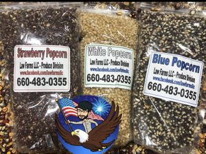 Red - blue - white - yellow - mushroom popcorn kernels for Sale in King City, MO