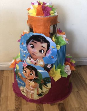 Baby Moana Cake Pinata with Balls for Sale in Chino, CA