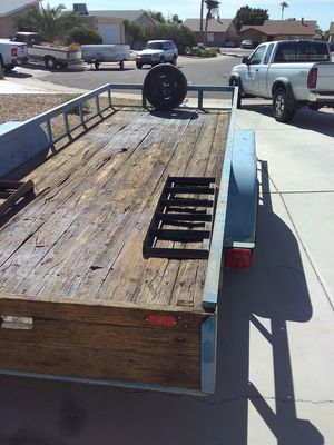 2003 target tandem axle trailer with car ramps az title permanent plates signed and ready to go for Sale in Apache Junction, AZ