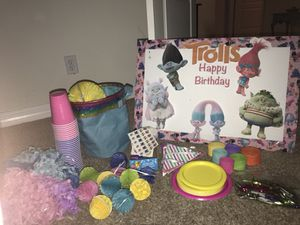 Trolls Party Decorations Etc for Sale in Round Rock, TX