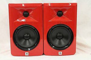 JBL LSR305 Limited Red RARE Edition Powered Studio Monitor Pair(Like New. No Scratch!) Serious Buyer Only! Pick up only! Cash Firm! for Sale in Los Angeles, CA