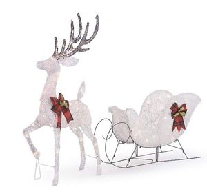 NEW reindeer and sleigh decoration for Sale in Santa Ana, CA